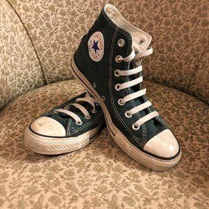 Green Converse All Stars Chuck Taylor Sz M 5 W 7